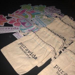 Pura Vida Bracelet Bags and Sticker Packs